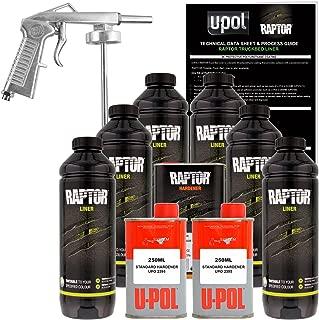 U-POL Raptor Tintable Urethane Spray-On Truck Bed Liner Kit w/ FREE Spray Gun, 6 Liters