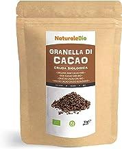Nibs de Cacao Crudo Ecológico 1 kg. 100% Puntas de Cacao Bio, Natural y Puro. Cultivado en Perú a partir de la planta Theobroma cacao. Fuente de magnesio, potasio y hierro. NaturaleBio
