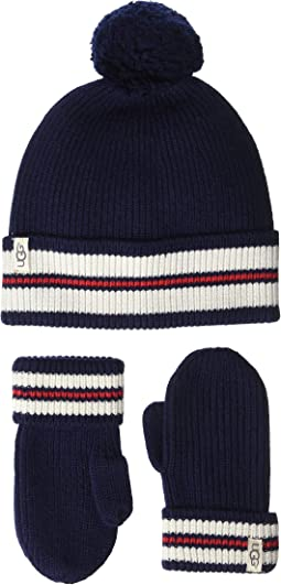 Varsity Knit Hat and Mitt Gift Set (Toddler/Little Kids)