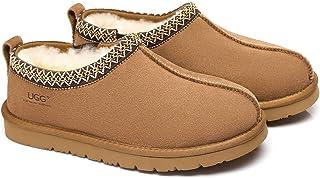 UGG Slippers Australian Genuine Sheepskin Mens Vincent Scuff - Chestnut - AU Ladies 13 / AU Men 11 / EU 44