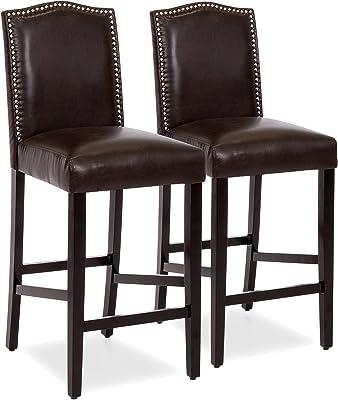 Outstanding Amazon Com Swivel Bar Stool In Walnut Brown Finish Set Of Machost Co Dining Chair Design Ideas Machostcouk