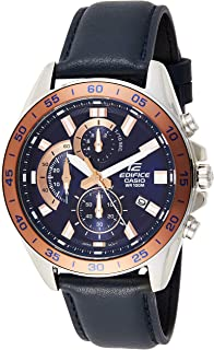 Casio Men's Edifice EFV550L-2A Silver Leather Japanese Automatic Fashion Watch
