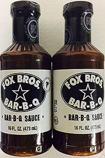 Fox Bros. Bar-B-Q Sauce, 2 16oz bottles- Official bar-b-q of that Atlanta Falcons