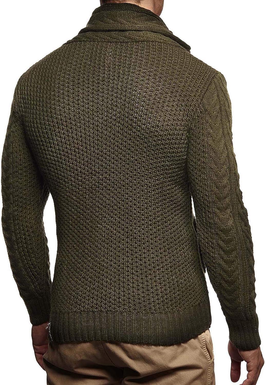 Leif Nelson Men Cardigan Jacket Shawl Collar LN-4195