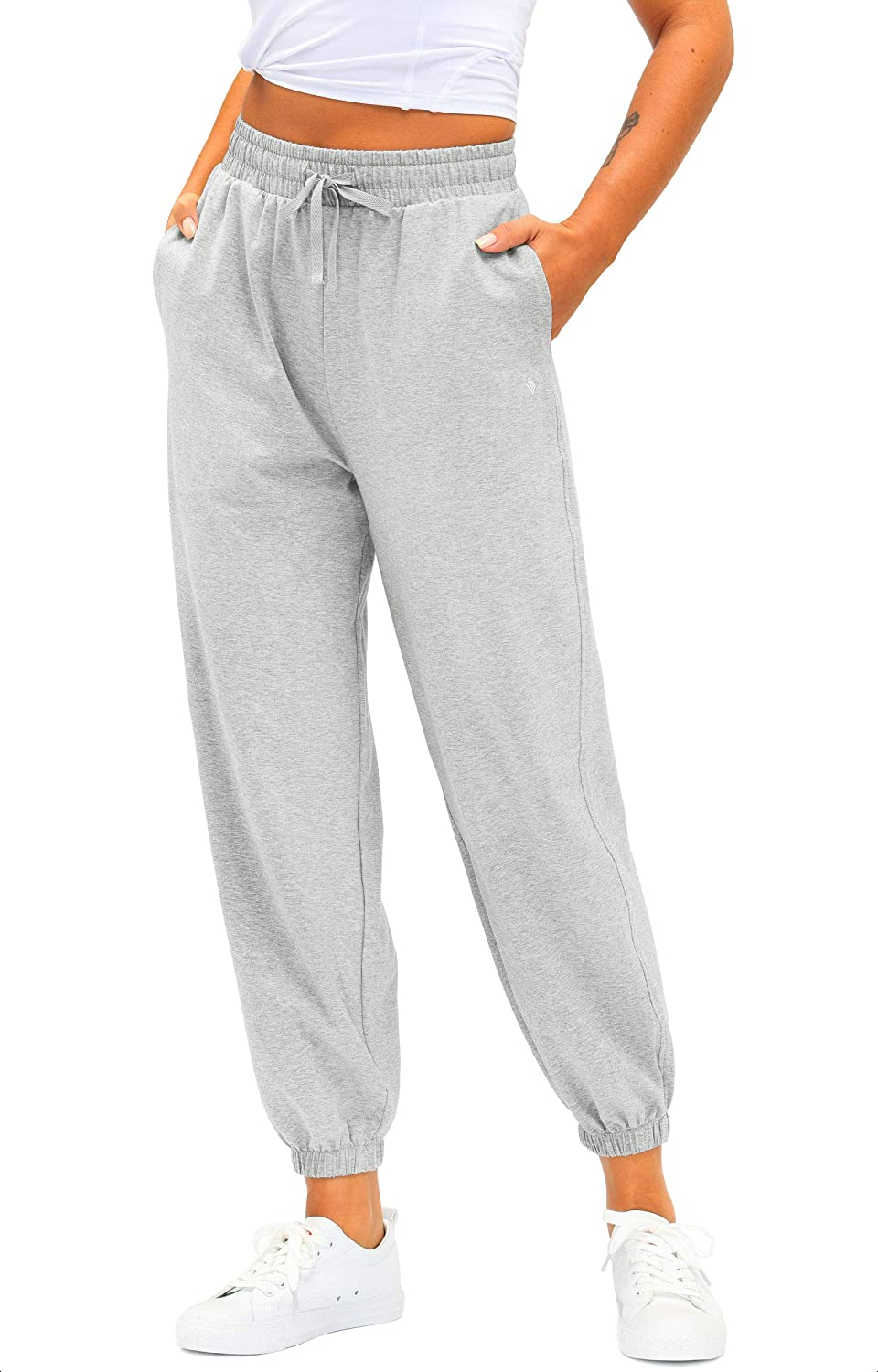 Women's Max 46% OFF Cotton Don't miss the campaign Sweatpants High Waisted Pants Athlet with Pockets