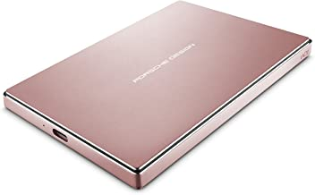 $64 » LaCie Porsche Design 2TB USB-C Mobile Hard Drive, Rose Gold + 2mo Adobe CC Photography (STFD2000406)