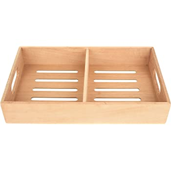 "Mantello Spanish Cedar Cigar Tray, Adjustable Divider, Fits Large Humidors, for Humidor or Walk-in Closet 12.5"" x 7.5""x 2.25"""