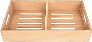Mantello Solid Spanish Cedar Cigar Tray, Adjustable Divider, Fits Large Humidors, 12.5
