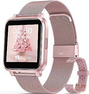 """Smartwatch Mujer, Hommie Reloj Inteligente Mujer 1.3"""" Táctil Completa, Pulsera Actividad Mujer IP68 con 17 Deportes, Pulsó..."""