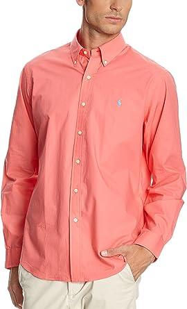 Polo Ralph Lauren Camisa Hombre Wovens Sport Coral L: Amazon ...