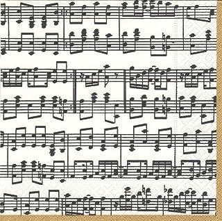 Caspari Musica Paper Cocktail Napkins, Pack of 20