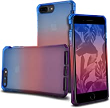 Celljoy Case compatible with iPhone 8 Plus, iPhone 7 Plus, iPhone 6 Plus [[Sunset Gradient TPU]] - Impact Bumper - Transparent - Colorful - Extreme Drop Protection (Blue/Pink/Purple)