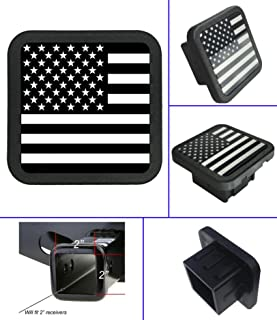 USA US American Flag Trailer Hitch Cover Tube Plug Insert (Fits 2