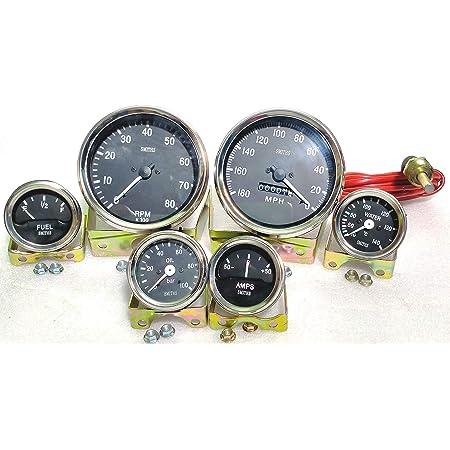 Smiths Replik Elektrische Anzeige Kit Chrom Lünette 52 mm Temp Öl Kraftstoff Vol
