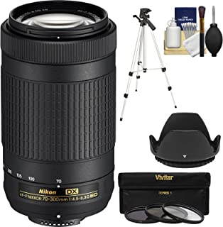 DavisMAX Fibercloth Deluxe Lens Bundle 72mm Wide Angle Lens for Nikon D3000 with Nikon 18-200mm Lens