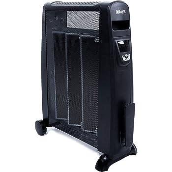 Duronic HV102 Radiador Eléctrico 2500W de Panel de Mica - Estufa sin Aceite Que calienta en 1 Minuto – Control por Pantalla Digital - Bajo Consumo y Ligero: Amazon.es: Hogar