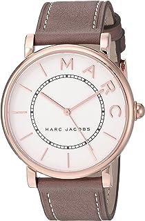 ساعة كوارتز للنساء من مارك جايكوبز، عرض انالوج وسوار جلدي MJ1533