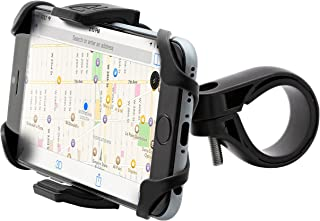 Aduro U-Grip Plus Universal Bike Mount - for Motorcycle, Handlebar, Roll Bar, iPhone X Xs 7 6 6s 7 Plus 5 5s 5c Bike Mount for All Android Smartphones, and GPS Holder (Black/Black)