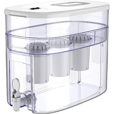 pH RECHARGE 3F - distributore dell'acqua con sistema filtrante e rubinetto - acqua alcalina e ionizzata - elimina cloro, impurità e metalli pesanti - aumenta il pH - 3 filtri - bianco - 12,5 litri