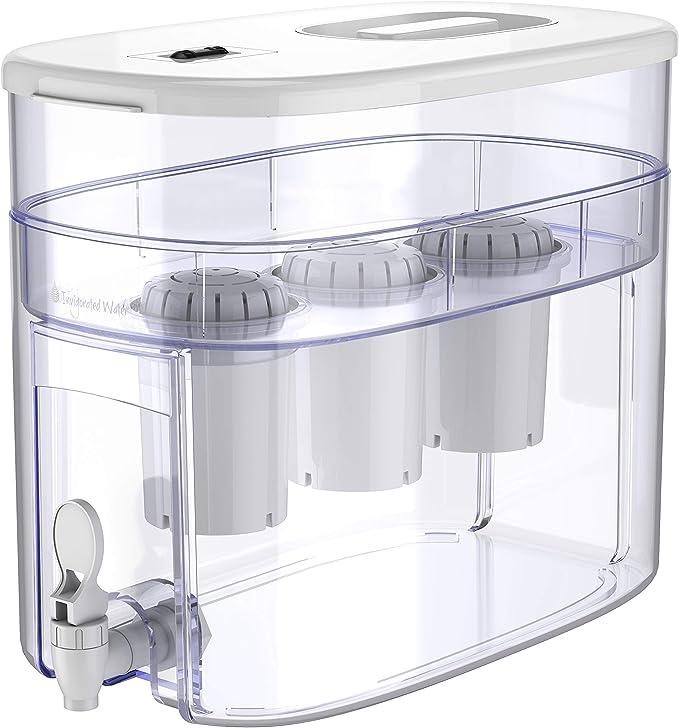 416 opinioni per pH RECHARGE 3F- distributore dell'acqua con sistema filtrante e rubinetto- acqua
