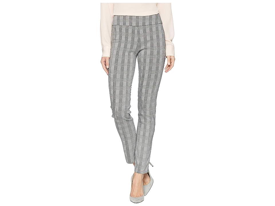 Vintage High Waisted Trousers, Sailor Pants, Jeans Elliott Lauren Glen Plaid Pull-On Ankle Pants BlackWhite Womens Casual Pants $144.00 AT vintagedancer.com