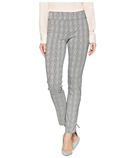 Glen Plaid Pull-On Ankle Pants
