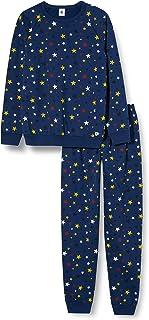 Petit Bateau 5736001 Pyjama Enfant à Motifs Étoiles en Molleton Garçon