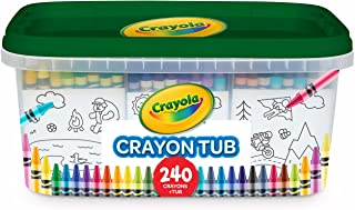Crayola 240 Crayons, Bulk Crayon Set, 2 of Each Color, Holiday Gift for Kids, Ages 3, 4, 5, 6, 7