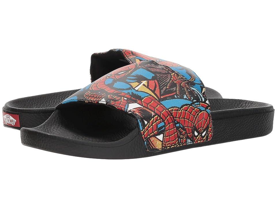 Vans Slide-On ((Marvel) Spiderman/Black) Slide Shoes