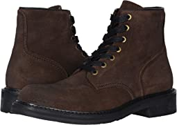 Dark Brown Waxed Suede
