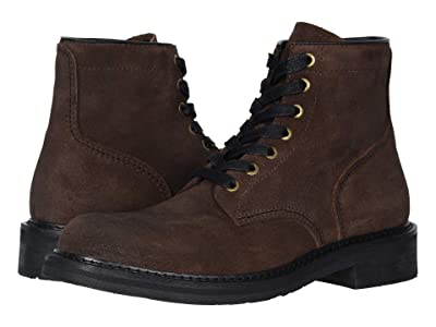 FRYE AND CO. Peak Work Boot (Dark Brown Waxed Suede) Men