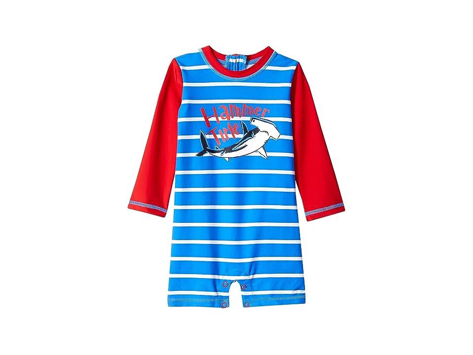 Hatley Kids Surf Island Mini Rashguard One-Piece (Infant) (Blue) Boy