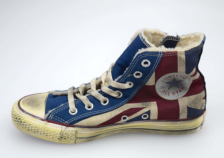 Converse ALL Star Scarpa Sneaker Donna Bandiera Inglese Vintage ...