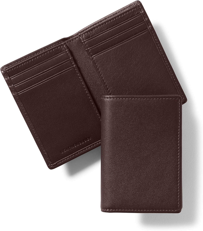 Leatherology Brown Men's Vertical Bifold Wallet