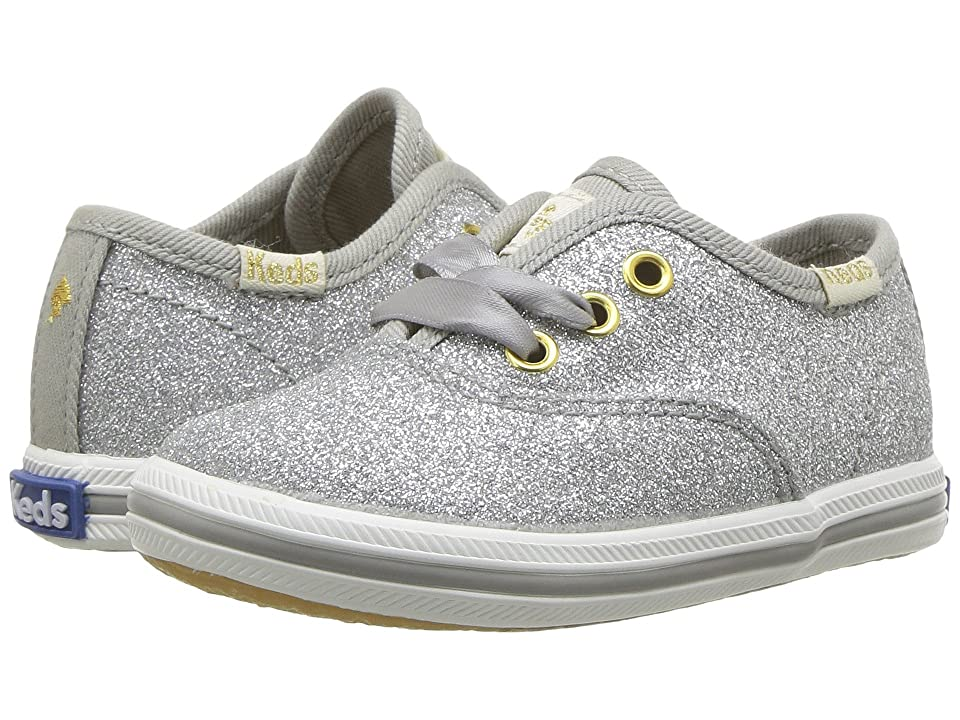 Keds x kate spade new york Kids Champion Glitter Crib (Infant/Toddler) (Silver) Girl