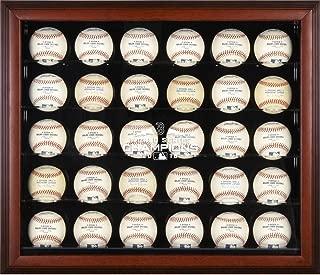 Sports Memorabilia Boston Red Sox 2018 MLB World Series Champions Mahogany Framed Logo 30-Baseball Display Case - Baseball Wall Mountable Display Cases