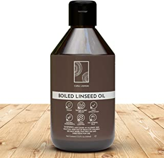 CURA LIGNUM Aceite de Linaza Cocido para Madera - Aceite de Linaza para Madera, Acabado Brillante e Impermeable - Aceite L...