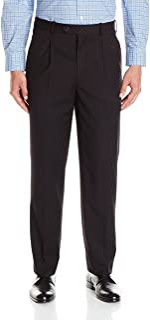 Adolfo Men's Flat Front Micro Tech Portly Suit Pant