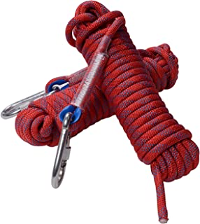 Rock Climbing Rope, 12mm Diameter Outdoor Hiking Accessories High Strength Cord Safety Rope(10m, 32ft)(20m, 64ft) (30m, 94ft)