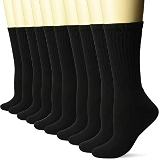 Women's 10-Pack Cotton Lightly Cushioned Crew Socks