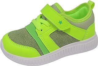 FEITAI أحذية تنس للأطفال للجري أحذية للأولاد خفيفة الوزن كاجوال بنات المشي أحذية رياضية ، أزرق وبرتقالي