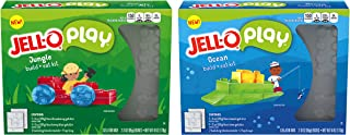 JELL-O Play Jungle & Ocean Build + Eat Kits (6 oz Boxes, Twinpack)