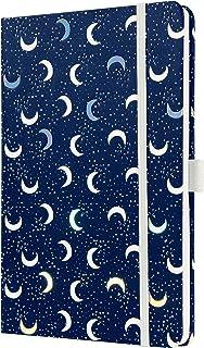 formato ca beige//blu A6 motivo lune SIGEL JN320 Taccuino Jolie a righe