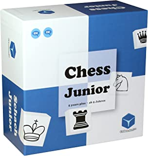 Chess Junior - Awarded Chess Set for Kids, Board Game for Teaching Chess to Kids in a Fun and Lead Back Way, Blue