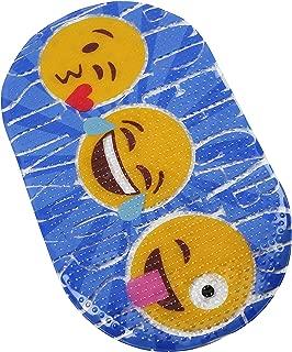 FOMI Bath Decor Kids Bathroom Mat | Emoji Mat for Tiled Bathroom Walls, Floor, Shower, and Tub | Decorative Plastic Mat for Toddlers, Children, Boys, Girls | Suction Backed