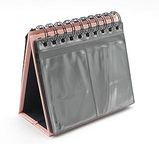 Jun Fotoalbum für Polaroids, Schreibtisch Ständer / Kalender für Fujifilm Instax Polaroid Fotos, 7,6cm, 68 Einstecklaschen rose