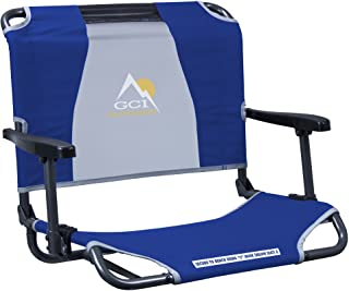 GCI Outdoor Big Comfort Wide Stadium Bleacher Seat with Back and Armrests, Royal