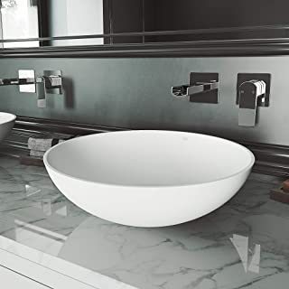 VIGO VG04015 Lotus Matte StoneTM Vessel Bathroom Sink