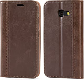 Galaxy A5 (2017) Case,Mulbess BookStyle Leather Wallet Case Cover with Kick Stand for Samsung Galaxy A5 (2017),Chocolate Brown