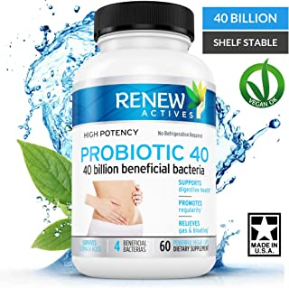 Double Strength Probiotic 40 Billion - Probiotics for Men & Women - Helps Eliminate Harmful Toxins & Waste! Improves Weight Loss, Digestion, Bowel Regularity & Increased Energy - 100% Guaranteed!